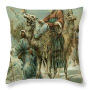 The Wise Men Seeking Jesus Throw Pillow