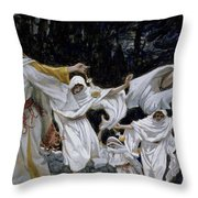 The Wise Virgins Throw Pillow