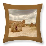 The Wishing Well Throw Pillow