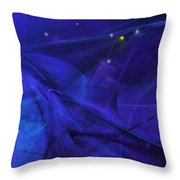 The Wizard Mid-incantation Throw Pillow