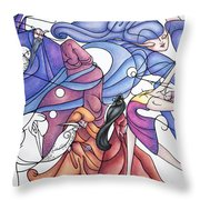 The Wizards Daughter Throw Pillow