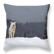 The Wolf Throw Pillow by Evgeni Dinev