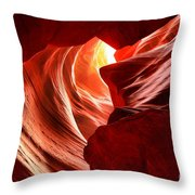 The Woman In The Canyon Throw Pillow
