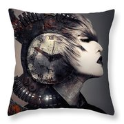 The Woman That Time Forgot Throw Pillow
