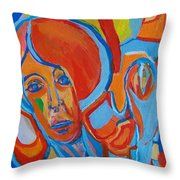The Woman With The Red Soul Throw Pillow