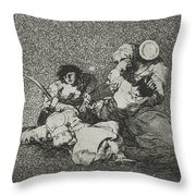 The Women Give Courage From The Series The Disasters Of War Throw Pillow
