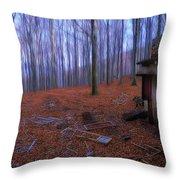 The Wood A La Magritte - Il Bosco A La Magritte Throw Pillow