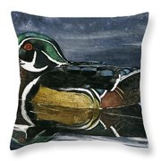 The Wood Duck Throw Pillow