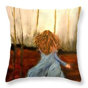 The Wood Nymph Throw Pillow