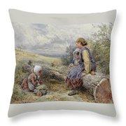 The Woodcutter's Children Throw Pillow