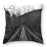 The Wooden Bridge Throw Pillow