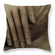 The Wooden Hand Of Peace Throw Pillow by Beauty For God