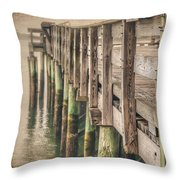 The Wooden Pier Throw Pillow