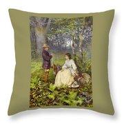 The Woodland Encounter  Throw Pillow