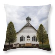 The Woodrow Union Church In Paw Paw West Virginia Throw Pillow