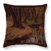 The Woods Are Deep And Dark Throw Pillow
