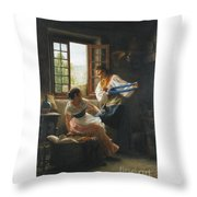The Wool Winders Throw Pillow