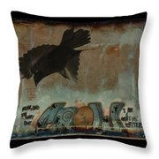 The Word Crow Throw Pillow