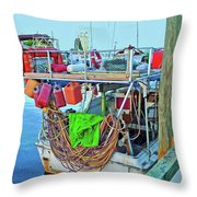 The Work Boat Throw Pillow