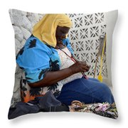 The Work Of Our Hands Throw Pillow