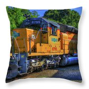 The Workhorse Squaw Creek Southern Rail Road Locomotive Art Throw Pillow