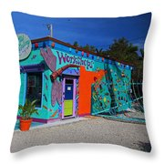 The Workshop-horizontal Throw Pillow