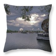 The World Goes Round Throw Pillow