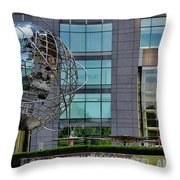 The World In New York Throw Pillow