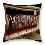 The World In The Library - Encyclopedias Throw Pillow