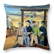 The World Of Classic Westerns Throw Pillow