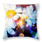 The World Of Dancing Flowers Throw Pillow