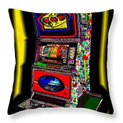 the World-Trade-Slot-Machine Throw Pillow