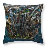 The Worlds Capital Throw Pillow