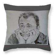 The Worried Mel Throw Pillow
