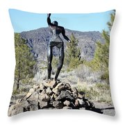 The Wounded Warrior Throw Pillow
