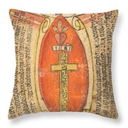 The Wounds Of Christ With The Symbols Of The Passion Throw Pillow