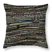 The Woven Word Throw Pillow