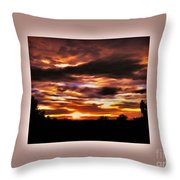 The Wow In A Sunset Throw Pillow