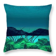The Wreck Diving The Reef Series Throw Pillow
