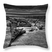 The Wreck Of The Steam Trawler Throw Pillow
