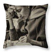The Writer Candid Shot Venice_dsc1374_02282017 Throw Pillow