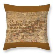 The Writing On The Wall Six Throw Pillow
