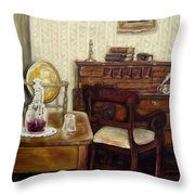 The Writing Room Throw Pillow
