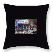 The Writing's On The Wall Throw Pillow