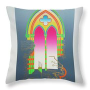 The Wurlitzer Window Throw Pillow