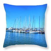 The Yacht Club Throw Pillow