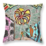 The Yard Throw Pillow