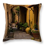 The Yellow Archway Throw Pillow