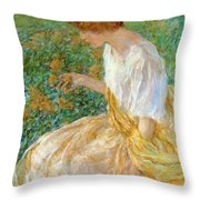 The Yellow Flower 1908 Throw Pillow