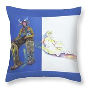 The Yellow King Throw Pillow